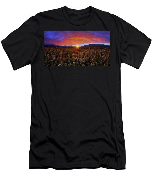 Majestic Sunset Over Cades Cove In Smoky Mountains National Park Men's T-Shirt (Athletic Fit)