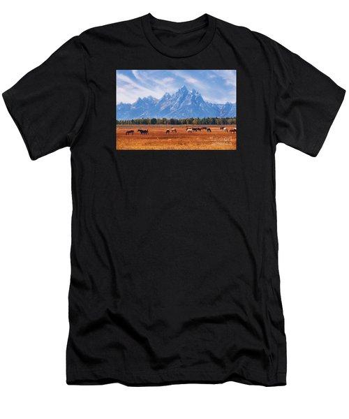 Majestic Teton Landscape Men's T-Shirt (Athletic Fit)