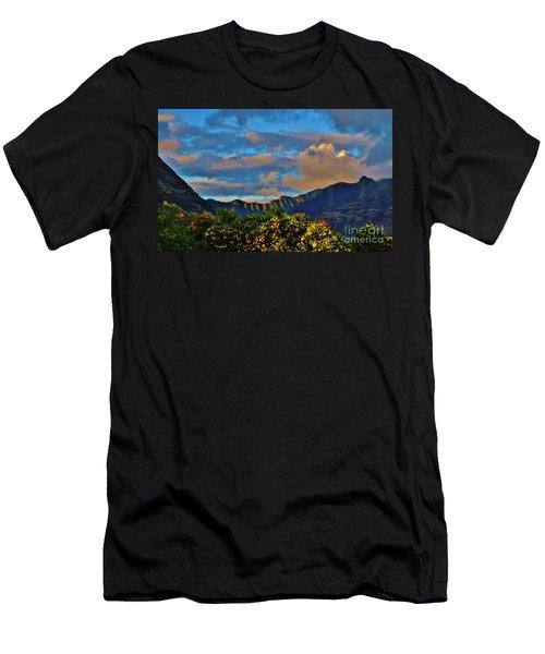 Makaha Sunset Men's T-Shirt (Athletic Fit)