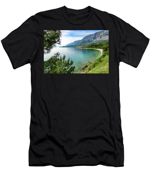 Makarska Riviera White Stone Beach, Dalmatian Coast, Croatia Men's T-Shirt (Athletic Fit)
