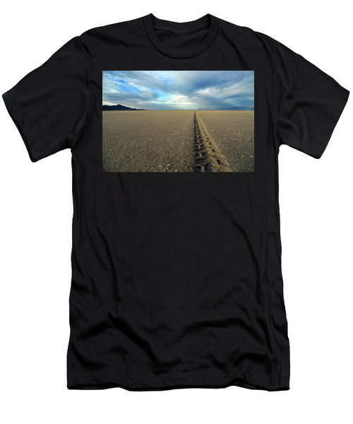 Making Tracks Crossing From Antelope Island To The Mainland Men's T-Shirt (Athletic Fit)