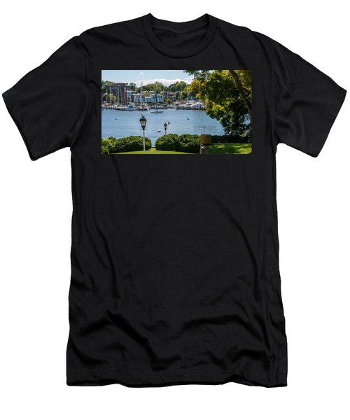 Men's T-Shirt (Athletic Fit) featuring the photograph Making Way Up Creek by Charles Kraus