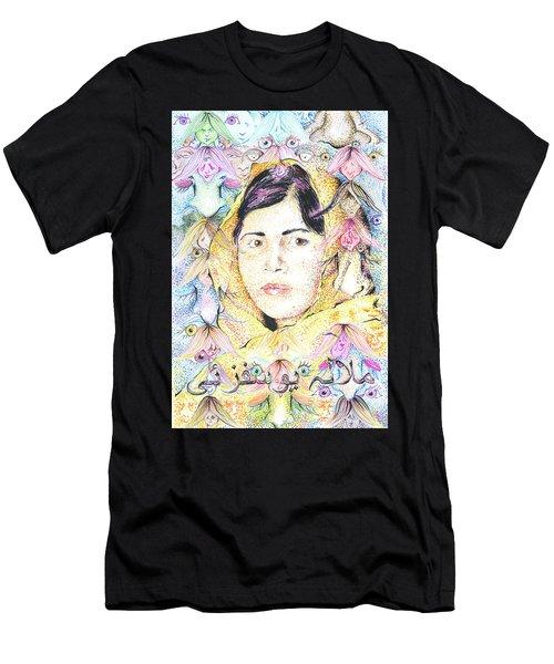 Malala-don't Ignore Us-sombra De Arreguin Men's T-Shirt (Athletic Fit)