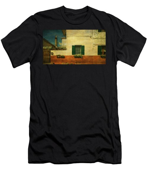 Men's T-Shirt (Slim Fit) featuring the photograph Malamocco Facade No1 by Anne Kotan