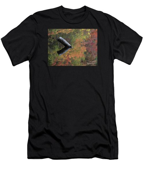 Malbourn Pond Abstract Men's T-Shirt (Athletic Fit)