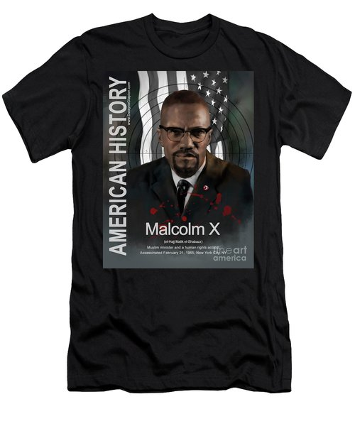 Malcolm X American History Men's T-Shirt (Athletic Fit)