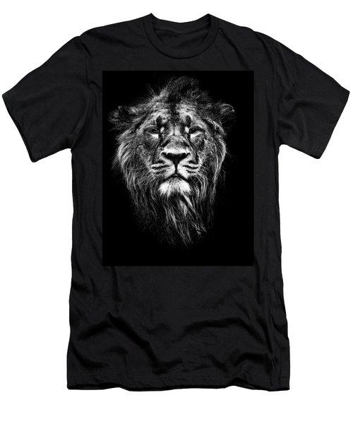Male Asiatic Lion Men's T-Shirt (Athletic Fit)