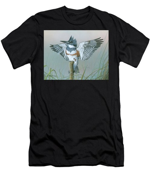 Male Belted Kingfisher Men's T-Shirt (Athletic Fit)