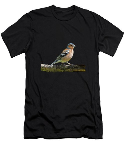 Male Chaffinch, Transparent Background Men's T-Shirt (Athletic Fit)