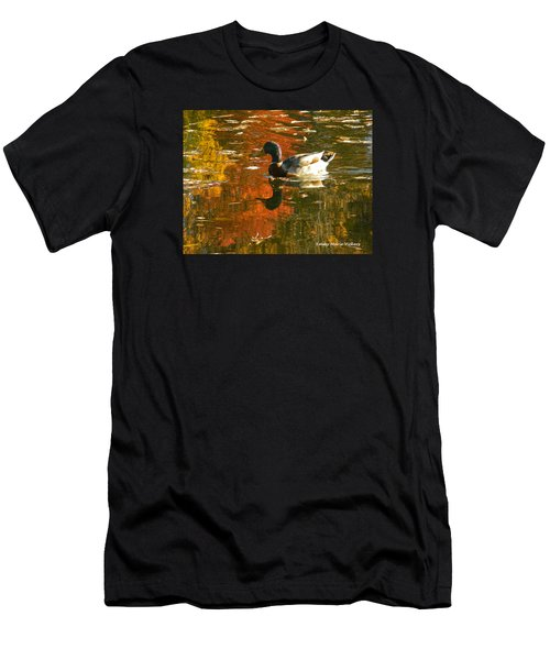 Mallard Duck In The Fall Men's T-Shirt (Athletic Fit)