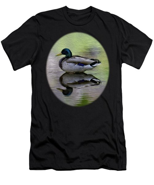 Mallard In Mountain Water Men's T-Shirt (Athletic Fit)