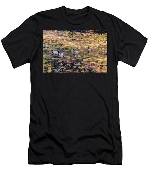 Mallards On Autumn Pond Men's T-Shirt (Athletic Fit)