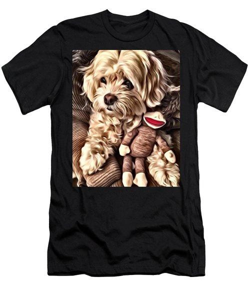 Maltipoo Love Men's T-Shirt (Athletic Fit)