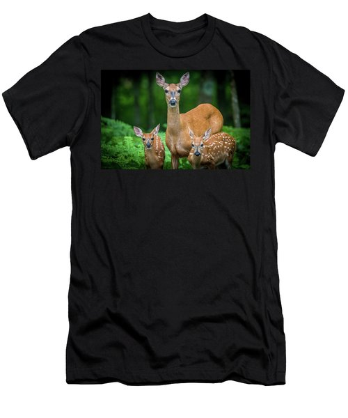 Mama And Fawns Men's T-Shirt (Athletic Fit)