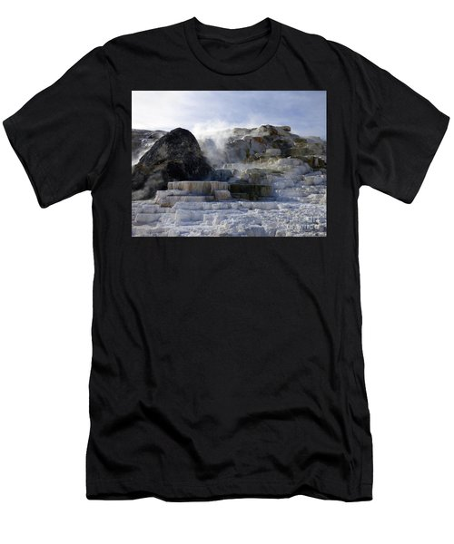Mammoth Hot Springs Terraces Men's T-Shirt (Athletic Fit)