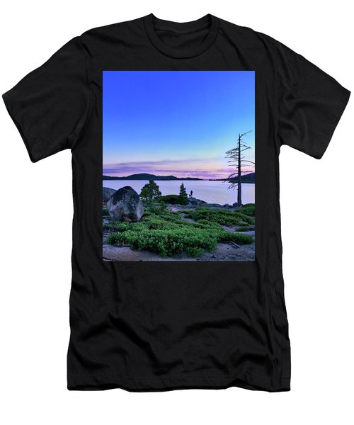 Man And Dog Men's T-Shirt (Athletic Fit)