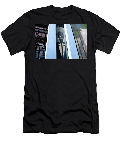 Man Looking At You Through A Window In Seattle Washington Men's T-Shirt (Athletic Fit)