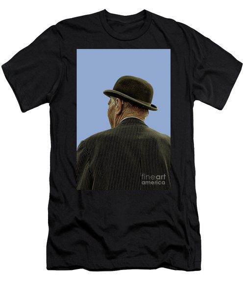 Man With A Bowler Hat Men's T-Shirt (Athletic Fit)