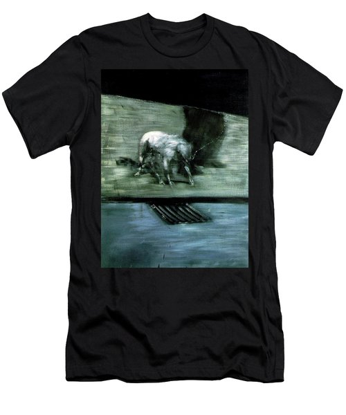 Man With Dog  Men's T-Shirt (Athletic Fit)