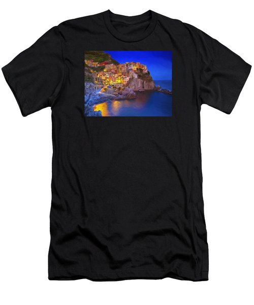 Manarola By Moonlight Men's T-Shirt (Athletic Fit)