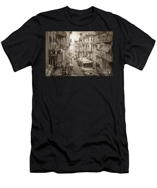 Manarola In Sepia Men's T-Shirt (Athletic Fit)