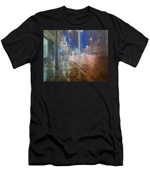 Manchester At Night Men's T-Shirt (Athletic Fit)