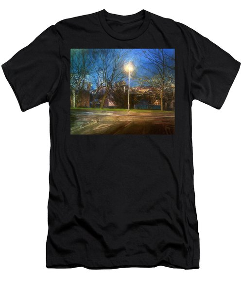 Manchester Street With Light And Trees Men's T-Shirt (Athletic Fit)