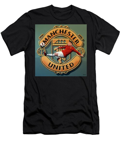 Manchester United Painting Men's T-Shirt (Athletic Fit)