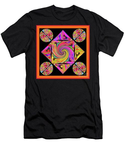 Men's T-Shirt (Slim Fit) featuring the digital art Mandala #50 by Loko Suederdiek