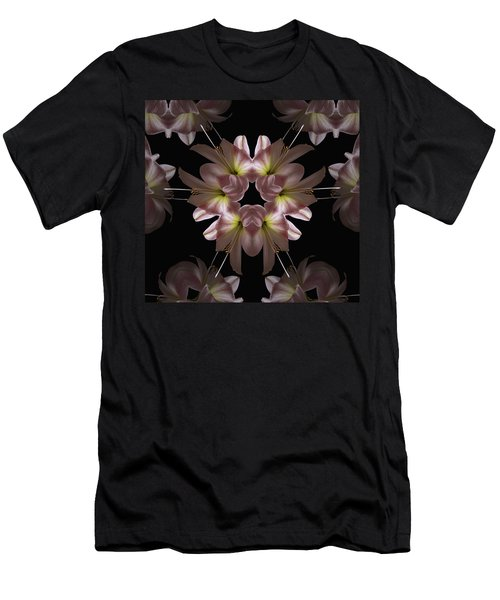 Men's T-Shirt (Slim Fit) featuring the digital art Mandala Amarylis by Nancy Griswold
