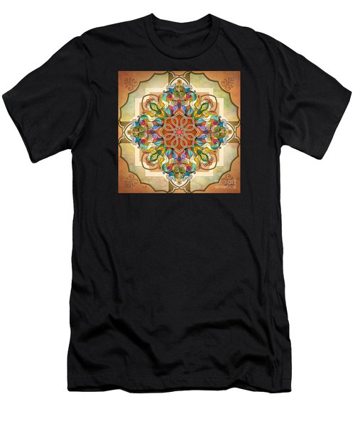 Mandala Birds Men's T-Shirt (Athletic Fit)
