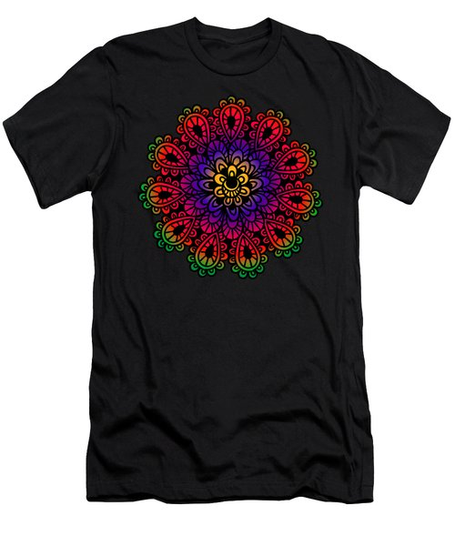Mandala By Lamplight Men's T-Shirt (Athletic Fit)