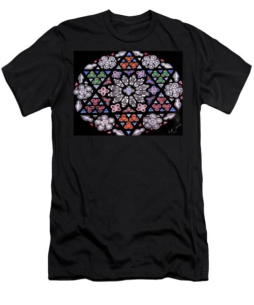 Men's T-Shirt (Slim Fit) featuring the painting Mandala Of Hope Phase 2 by Lisa Brandel