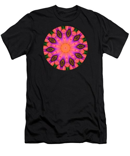 Mandala Salmon Burst Men's T-Shirt (Slim Fit) by Hao Aiken