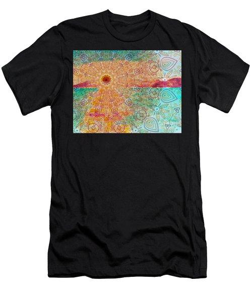 Mandala Sets Over The Dunes Men's T-Shirt (Athletic Fit)