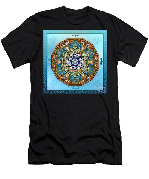 Mandala Shalom Men's T-Shirt (Athletic Fit)