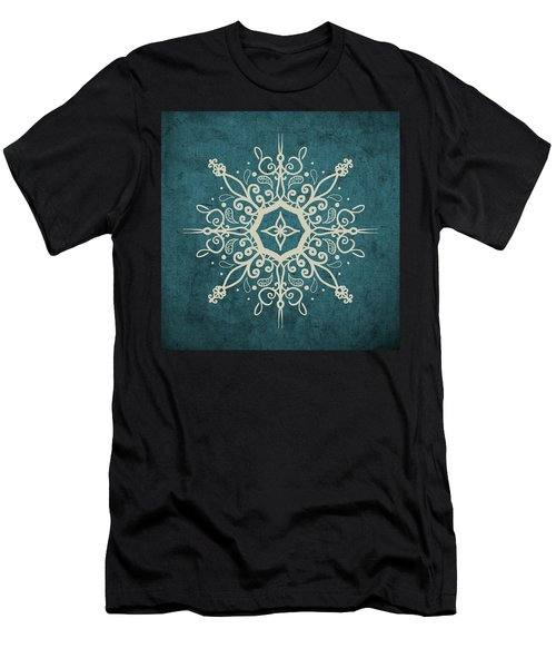 Mandala Teal And Tan Men's T-Shirt (Athletic Fit)