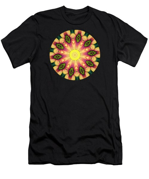Mandala Yellow Burst Men's T-Shirt (Slim Fit) by Hao Aiken