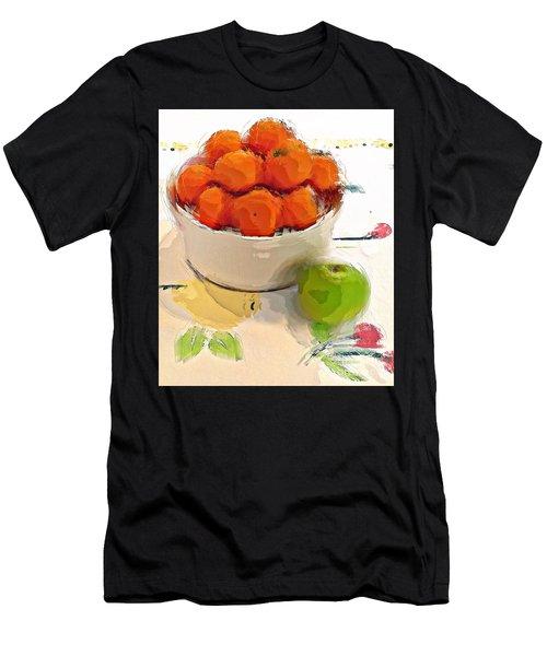Mandarin With Apple Men's T-Shirt (Athletic Fit)