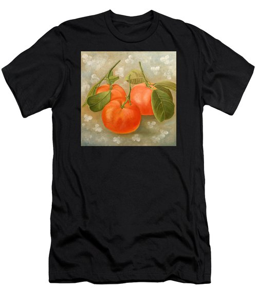 Men's T-Shirt (Athletic Fit) featuring the painting Mandarins by Angeles M Pomata