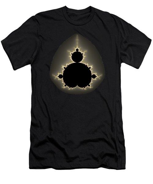 Men's T-Shirt (Slim Fit) featuring the digital art Mandelbrot Set Square Format Art by Matthias Hauser