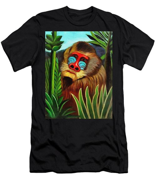 Mandrill In The Jungle Men's T-Shirt (Athletic Fit)