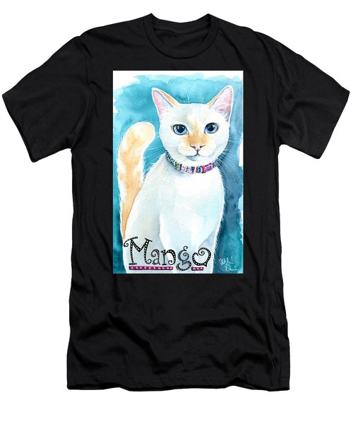 Mango - Flame Point Siamese Cat Painting Men's T-Shirt (Athletic Fit)