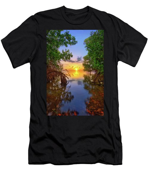 Mangrove Sunset From Jensen Beach Florida Men's T-Shirt (Athletic Fit)