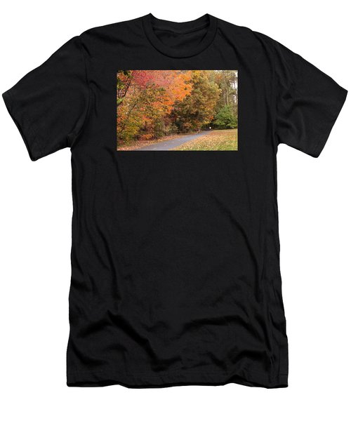 Manhan Rail Trail Fall Colors Men's T-Shirt (Athletic Fit)