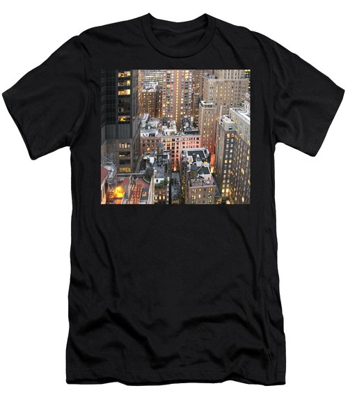Manhattan At Dusk Men's T-Shirt (Athletic Fit)