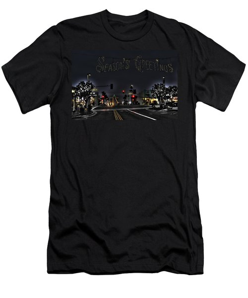 Manhattan Beach Christmas Men's T-Shirt (Athletic Fit)