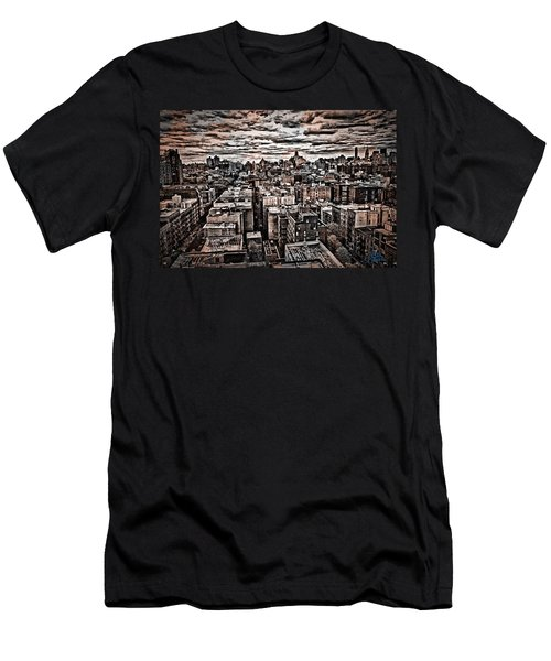 Manhattan Landscape Men's T-Shirt (Athletic Fit)