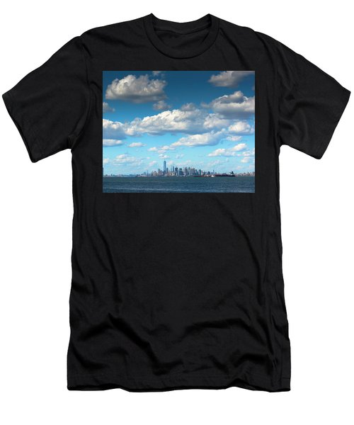 Manhattan With Clouds Men's T-Shirt (Athletic Fit)