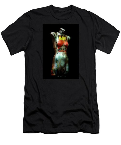 Men's T-Shirt (Slim Fit) featuring the painting Mannequin Graffiti by Kim Gauge